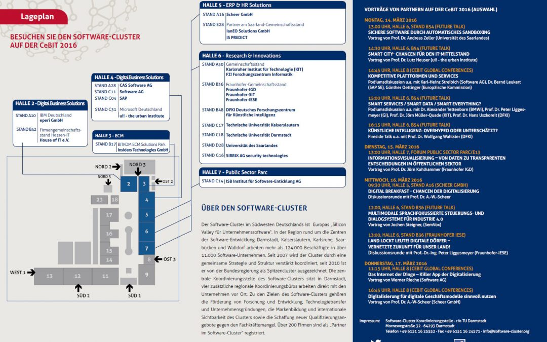 CeBIT 2016: Software-Cluster-Partner als Impulsgeber für die digitale Transformation